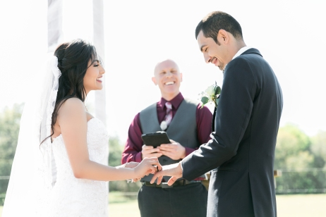 Congratulations Mr. and Mrs. Nuno. Wedding Performed at Orange Blossom Barn, on the Belle Brooke Ranch, Bushnell FL