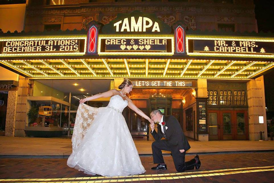 Their Love is like a movie at the Tampa Theatre