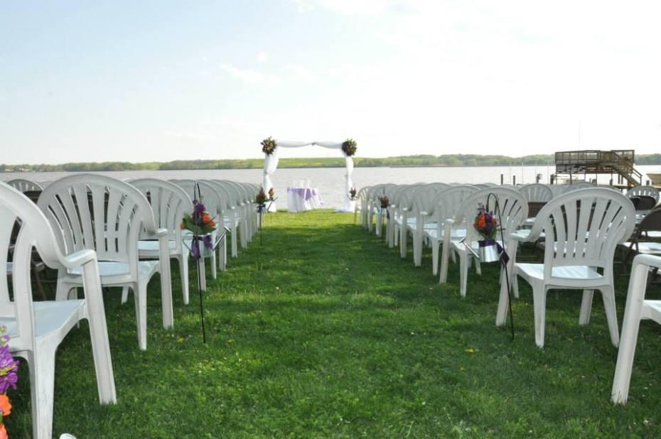 Wedding performed at Hawk's Pleasure Club Essex, MD.