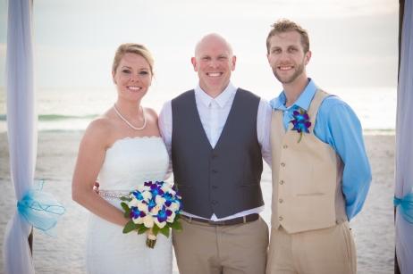 Congratulations Mr. Darrin Baker and Mrs. Allison Davis. Wedding performed at Pass-A-Grill Beach with Gulf Beach Weddings