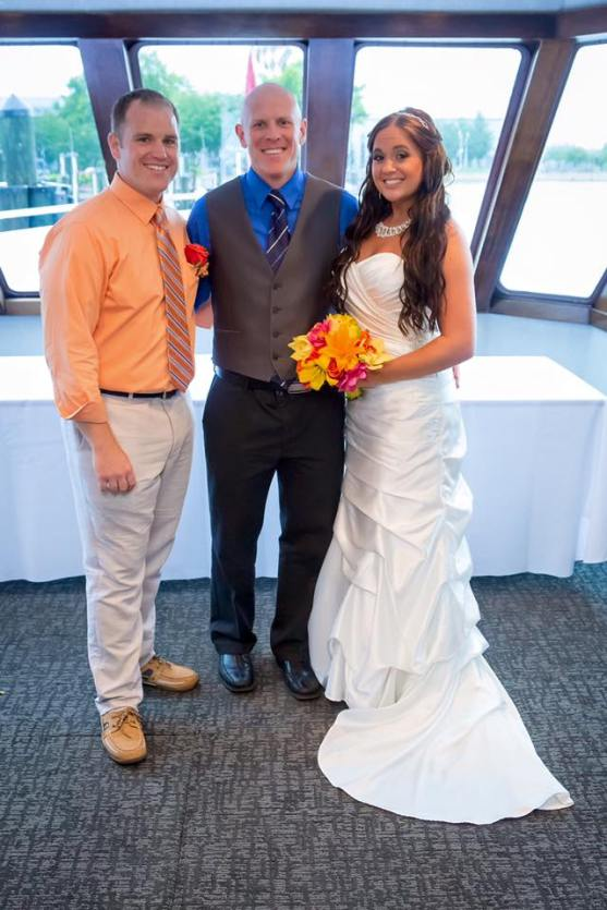 Congratulations to Jeff and Stephanie. Wedding performed on the Catherine Maria, Annapolis, MD.