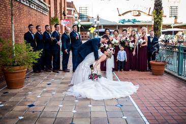 A beautiful wedding day in Ybor at the Cl Space.