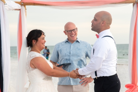 Beach wedding in Pass-A-Grille with a very fun couple