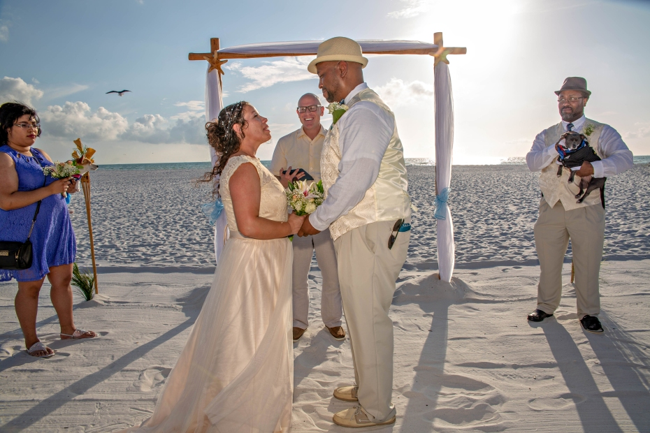 Clearwater beach wedding with Gulf Beach Weddings and photos by Koz for Celebration.