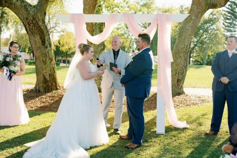 Emily and Ethan marriage ceremony in Bradenton at IMG Academy.