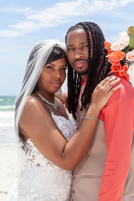 Beach Wedding in Clearwater with Gulf Beach Weddings and plcarrillophotography.com.