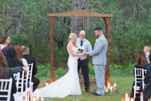Tonya and Josh sharing their vows at the Plantation in Lutz Florida. Thank you Ardensea for the Photos.