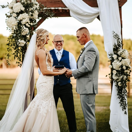 Sunny Wedding Day in Dade City Waller Farm with Tuscany Photo.