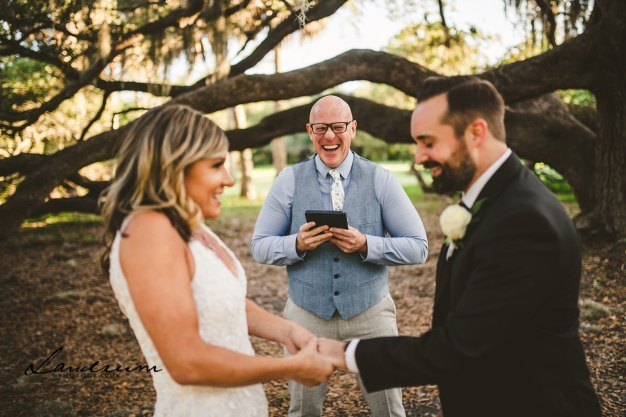 Erinn and Michael in Philippe Park with Natalie from Landrum Photography