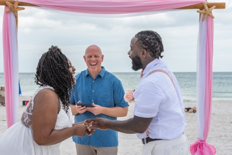 LaCresia' Louder & Christopher Cameron Wedding with Gulf Beach Weddings and Louisview Photography